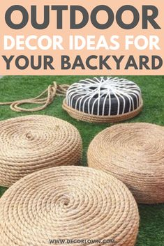 DIY Outdoor Decor To Spruce Up Your Backyard. Quick and easy DIY outdoor decor ideas to spruce up your yard. Get your yard ready for summer with these DIY outdoor decor ideas. These DIY projects will revamp your backyard and leave your neighbors jealous. Diy Outdoor Furniture, Garden Furniture, Pallet Furniture, Furniture Projects, Wood Projects, Furniture Design, Furniture Refinishing, Repurposed Furniture, Rustic Furniture