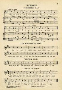 Kindergarten Songs for December ~ Free Vintage Graphic