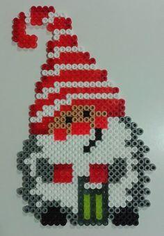 Christmas gnome hama beads by Juan José Prieto