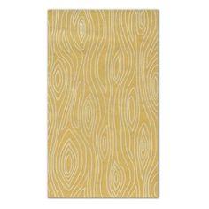 Grandin Road yellow faux bois wood grain modern outdoor rug via Room Fu - Knockout Interiors