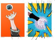 Rasengan and Chidori - Naruto and Sasuke Sasuke Akatsuki, Naruto Art, Naruto And Sasuke, Naruto Shippuden Anime, Sasunaru, Narusasu, Kakashi, Naruto Sketch, Naruto Series