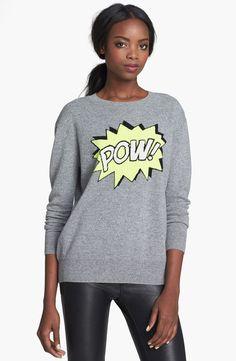 autumn cashmere 'Pow' Intarsia Knit Boyfriend Sweater