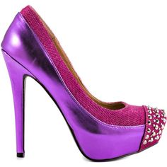 Penny Loves Kenny Women's Faris - Fuchsia Met Leather ($95) ❤ liked on Polyvore featuring shoes, pumps, heels, purple, purple shoes, platform pumps, purple high heel shoes, fuchsia pumps and sexy platform pumps