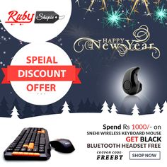 Special offer on #New Year Guys !!!  Buy #Wireless_keyboard_Mouse upto only Rs.1000  using coupon code FreeBT and get #Black_Bluetooth_Headset Free