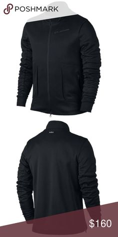 "Nike Lebron MVP Jacket (100% Authentic) MVP style. Composite knit fabric with a water- repellent finish helps keep you dry. Engineered ribbing for ventilated comfort. Zippered media pocket securely stores  your mobile device. 💯% Polyester( Imported).   Pit to Pit Flat: 51.6""   Sleeve Length: 28.7""  Shoulder to Shoulder: 19.2""                 Front Length: 28.3""  Back length: 30.7"". NOTE: THE COLORS OF THE ACTUAL PRODUCT MAY SLIGHTLY VARY DUE TO DIFFERENT COMPUTER SCREENS AND VARIATIONS IN…"