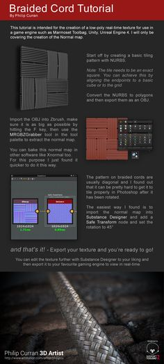 This is a tutorial I made on how to make a braided cord using Zbrush and Substance Designer.