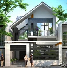 most popular modern dream house exterior design ideas 9 * remajacantik 2 Storey House Design, Bungalow House Design, Modern Bungalow, House Front Design, Small House Design, Modern House Design, Minimalist House Design, Architecture Design, Facade Design
