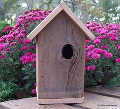 Birdhouse Primitive Rustic Traditional  by PrimitiveWoodworks, $25.00