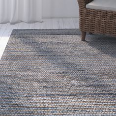 Found it at Joss & Main - Aria Dark Blue/Tan Area Rug