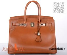 hermes tote - Authentic Hermes Natural Fauve Barenia Birkin 35cm Brushed PHW ...