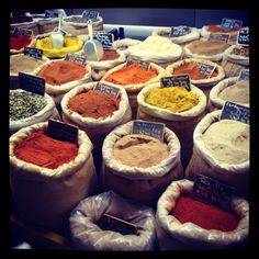 spices. i remember walking in NYC behind madison square garden and all the spices - it was erotic - sensual... i just wanted to run my fingers thru all the colorful smells