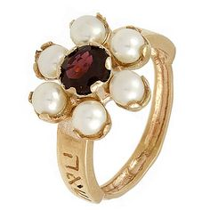 Ruby and Pearl ring. I would love to have this. #mineandpresleysbirthstone #precious