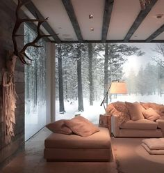 Dreamy vacation home 🏡 🦌🌲 - wohnen - Winter Cabin, Cosy Winter, Interior Decorating, Interior Design, House Rooms, Home And Living, Living Room, Modern Living, My Dream Home