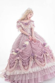 LolitaWardtobe - Bring You the latest Lolita dresses, coats, shoes, bags etc from Trustworthy Taobao indie Brands. We never resell Lolita items from untrustworthy Taobao stores. Rococo Fashion, Lolita Fashion, Victorian Fashion, Vintage Fashion, Vestidos Vintage, Vintage Dresses, Pretty Dresses, Beautiful Dresses, Lolita Dress