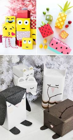Boxes of any shape: Add some details to wrapping paper, and it'll become difficult to unwrap such a beautiful present.