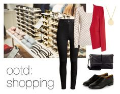 ootd: shopping by so-gosk on Polyvore featuring moda, Tory Burch, Topshop, H&M, Jigsaw, J.Crew, Madewell, ootd, shopping and casualoutfit