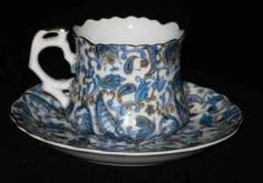 Lefton's China, Blue Paisley, Cups and Saucers - $95 (Inner Loop/SW Houston)