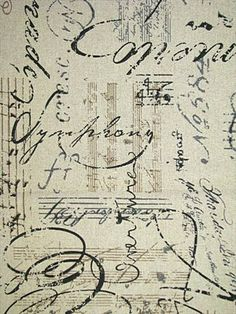 orchestra french script fabric