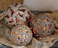 Gartendekoration - Gartenkugel ERDKUGEL Gartenkeramik Kugel - ein Designerstück von Britt-Keramik bei DaWanda