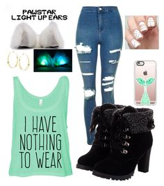 """""""Nothing to wear"""" by st034mg on Polyvore featuring Topshop, Casetify and Lana"""