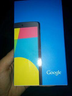 My #Nexus5 has arrived! So stoked.