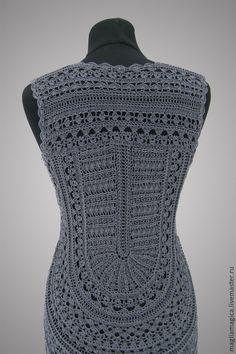 Купить Mademoiselle Coco - чёрно-белый, однотонный, платье летнее, платье вязаное, платье коктейльное