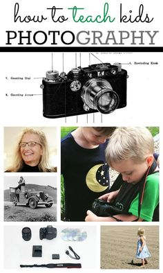 This post includes ideas for the everyday photographer, parent, and teacher to teach photography to kids from philosophy to the basics.