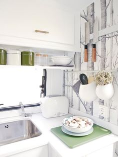 Super Cool and Practical Caravan Interior Design | DigsDigs,,,,I want to redo my camper like this!