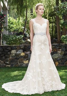 Style 2250 Holly by Casablanca Bridal is a beaded lace fit and flare gown, with a sweetheart neckline and cap sleeves that transform into a keyhole corset back 2016 Wedding Dresses, Wedding Attire, Bridal Dresses, Wedding Gowns, Bridesmaid Dresses, Lace Wedding, Casablanca Bridal Gowns, Gorgeous Wedding Dress, Wedding Dressses