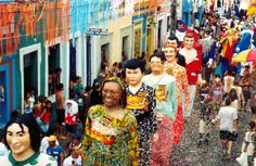 The Carnival in Olinda (Pernambuco) is one of the most famous in Brazil. In February you find joy, excitement and many, many people there. It's very beautiful and funny!