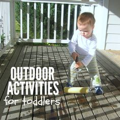 Outdoor activities for toddlers. Great outside activities for babies and young toddlers. Outdoor Activities For Toddlers, Circle Time Activities, Outside Activities, Gross Motor Activities, Infant Activities, Summer Activities, Preschool Activities, Young Toddler Activities, Toddler Play