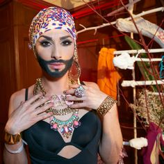 Bearded Austrian drag queen faces Russian backlash over Eurovision entry