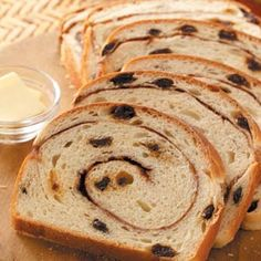 Swirled Cinnamon Raisin Bread Recipe