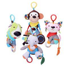 Miúdos bebê encantador animais de pelúcia cama Torno carro pendurado berço pendurado chocalhos brinquedos carrinho de bebé