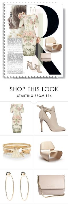 """""""Bloom..............."""" by style-stories ❤ liked on Polyvore featuring Adrianna Papell, Jimmy Choo, River Island, Bebe and Givenchy"""