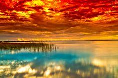 sunsurfer:    Tropical Sunset, St.Cloud Park, Florida   photo By emeraldF