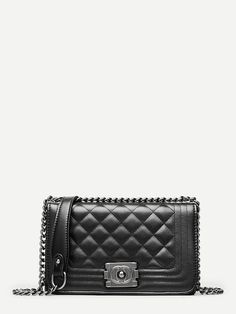 811477e425a2 Quilted Detail Chain Bag