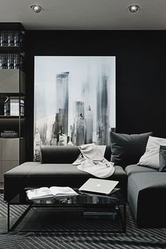 Contemporary Decor | Dark Living Room Design Furniture Ideas Among Contemporary Furniture | www.bocadolobo.com