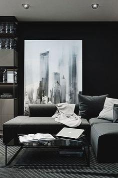 Contemporary Decor | Dark Living Room Design Furniture Ideas Among Contemporary Furniture | www.bocadolobo.com