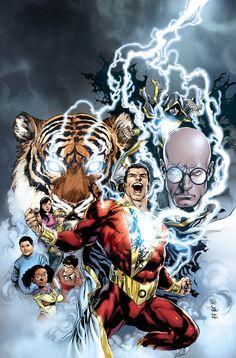 Shazam/Captain Marvel by Ivan Reis Captain Marvel Shazam, Ms Marvel, Marvel Comics, Arte Dc Comics, Anime Comics, Dc Heroes, Comic Book Heroes, Comic Books Art, Comic Art
