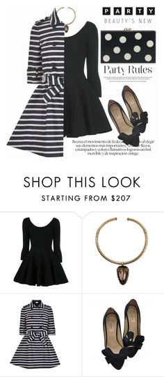 """PARTY STYLE"" by shoaleh-nia ❤ liked on Polyvore featuring Valentino and RED Valentino"