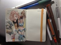 Number 35 of Kenneth Rocafort's 365 day sketch project (2014).