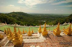 View of Sagaing Hills from U Min Thonze Pagoda