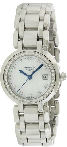 Longines PrimaLuna Ladies Watch Size: Mother Of Pearl Tag Heuer Aquaracer Ladies, Discount Watches, Two Tones, Mother Pearl, Stainless Steel Bracelet, Chronograph, Quartz, Diamond, Lady