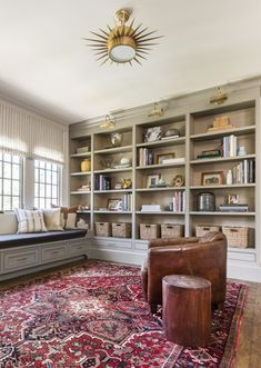 The 3 Cs of Styling Shelves - Marie Flanigan Interiors Hidden Rooms, Built In Bookcase, Bookshelves, Vogue Living, Playroom Design, Study Office, Built Ins, Luxury Homes, Modern
