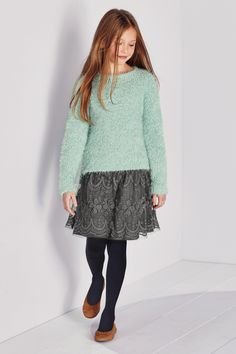 Buy Mint Sparkle Fluffy Sweater (3-16yrs) from the Next UK online shop
