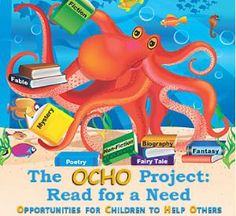 The OCHO Project is a story book that is designed to inspire kids to make a difference by serving within their Community. It definitely gets the creative energy started!