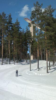Lahti ski-center, March 2013