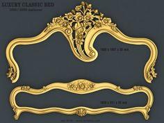 Classic Bedroom Furniture, Bed Furniture, Bedroom Bed Design, Bedroom Ideas, 3d Cnc, 3d Design, 3d Printer, Bedding Sets, Platform Bed
