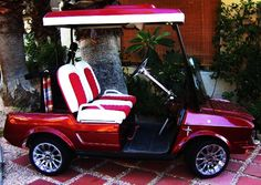 Ford Mustang Golf Cart~